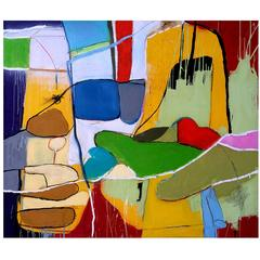 Abstract Mixed-Media Painting by John Luckett