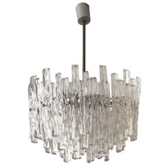 Exceptional Three-Tiered Dramatic Lucite Chandelier in Style of Kalmar, 1960s