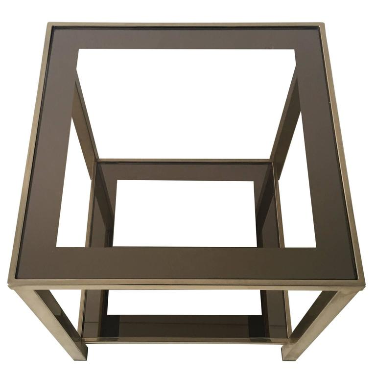 Small Modern Coffee Table 1960s For Sale At 1stdibs: Small, 23-Carat Gold-Plated Side Table, 1960s For Sale At