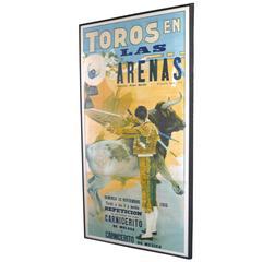 """""""Toros En Las Arenas"""" Framed 1935 Bullfight Poster"""