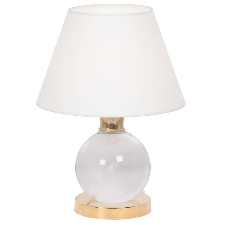 pivoting crystal ball table lamp at 1stdibs. Black Bedroom Furniture Sets. Home Design Ideas