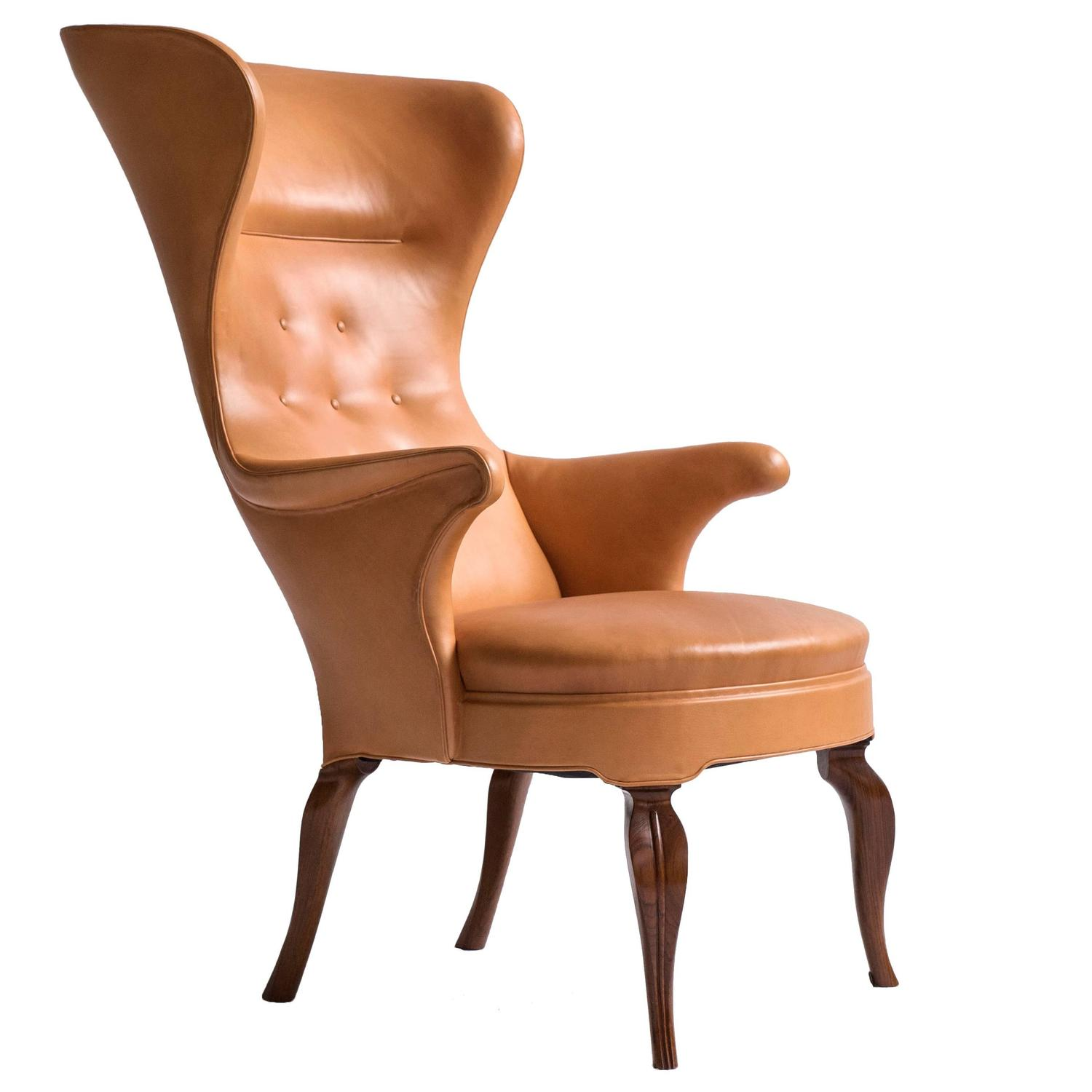 Frits Henningsen High Back Wing Chair at 1stdibs