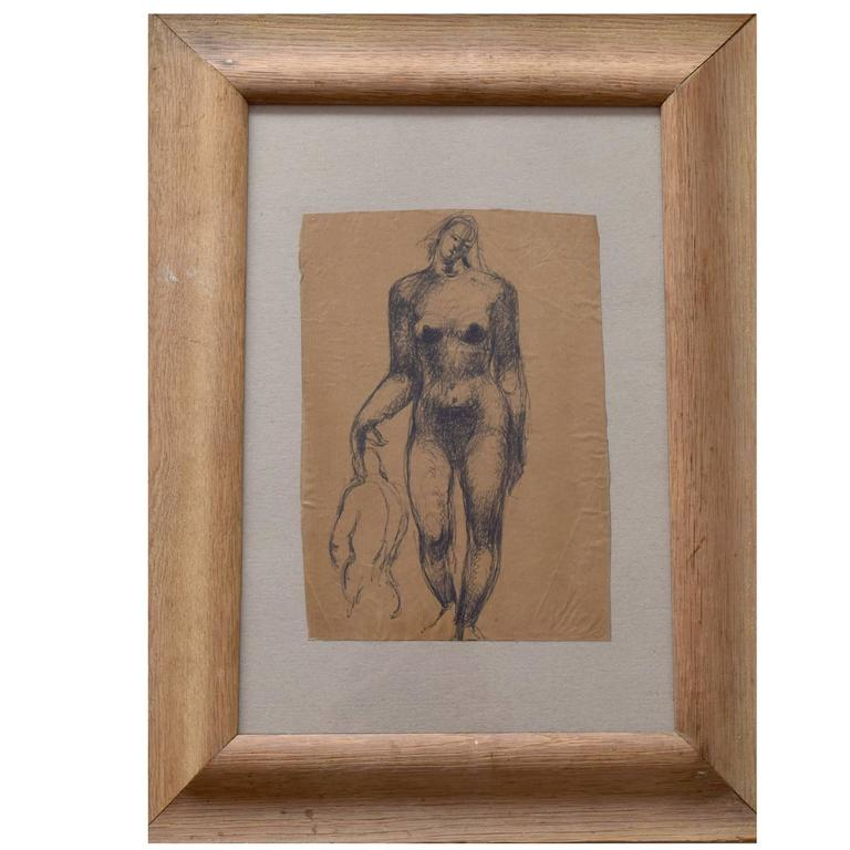 Peter William Ibbetson, Stylised Female Nude, British, circa 1940