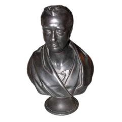 Wedgwood Black Basalt Bust of George Stephenson