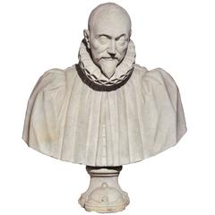 Late 16th Century Italian Bust of a Cardinal with a Ducal Coronet at the Base