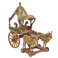 Early 20th Century Model of Ceremonial Wagon