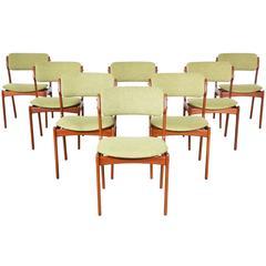 Large Set of Erik Buck #49 Teak Dining Chairs for O.D. Møbler