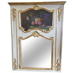 French Louis XV Style Trumeau Mirror