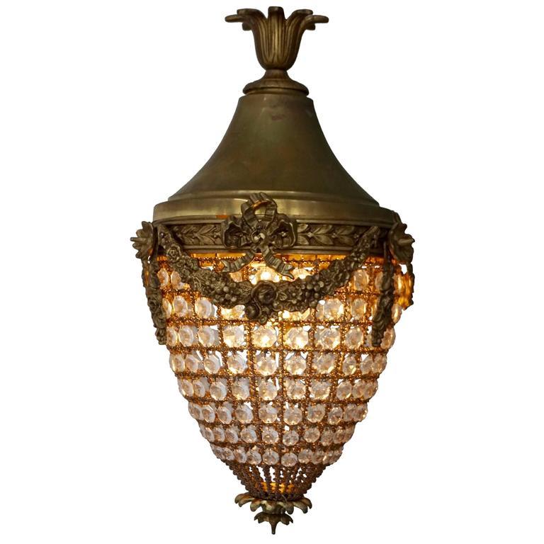 Pair Of Vintage Brass Lanterns At 1stdibs