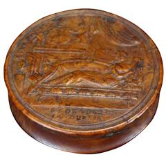 Empire French Pressed Wood Snuff Box, Early 19th Century