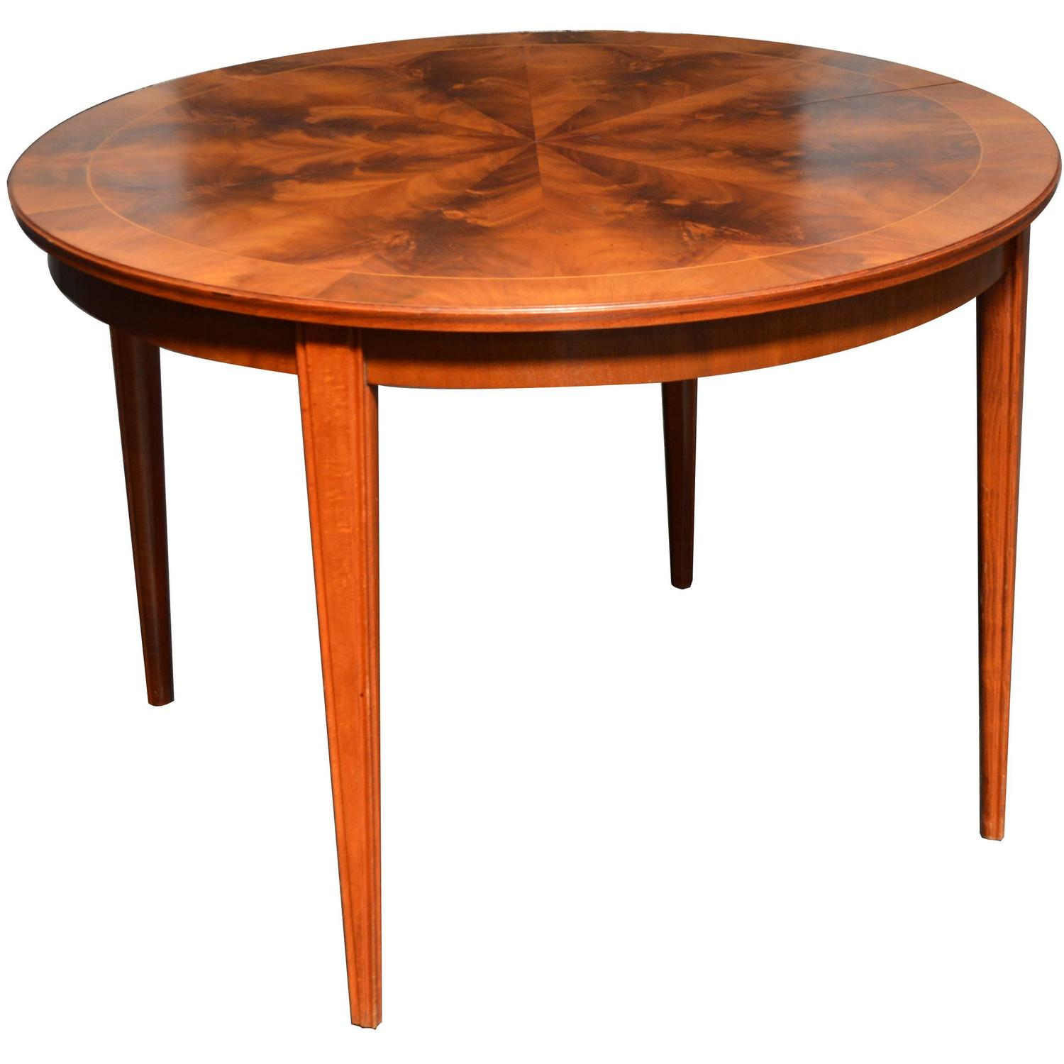 Round Mahogany Svenska Mobler Dining Table For Sale At 1stdibs