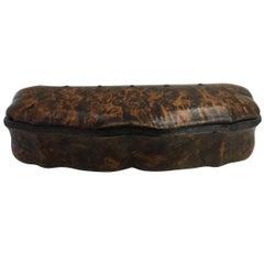 Burlwood Box of Rectangular Form, 19th Century, Probably English