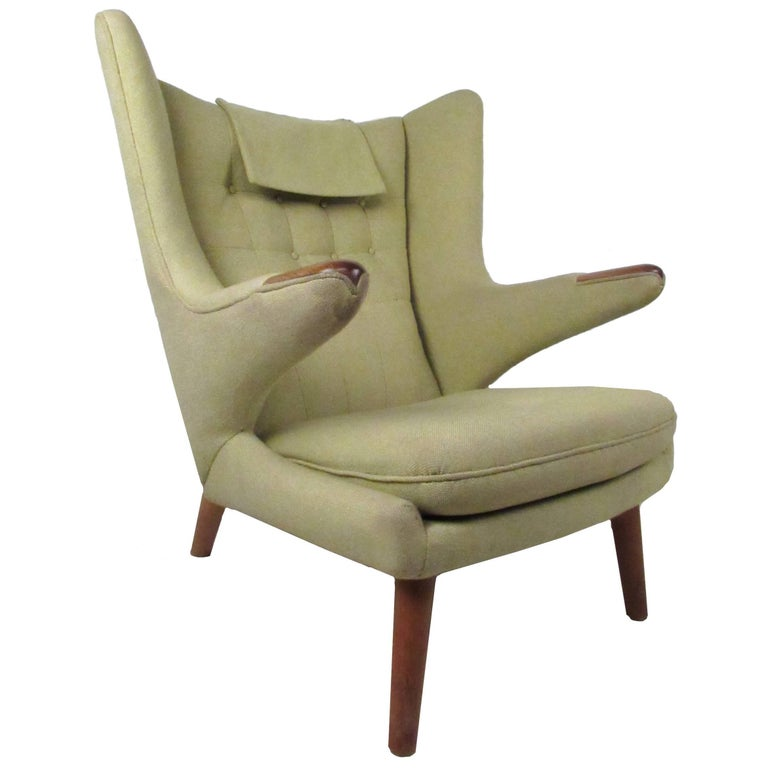 Astounding Mid Century Papa Bear Chair By Hans J Wegner Ibusinesslaw Wood Chair Design Ideas Ibusinesslaworg