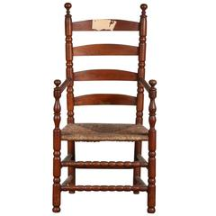 Fine Pilgrim Style Ladder Back Chair from Yale