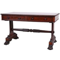 Late English Regency Rosewood Writing Table