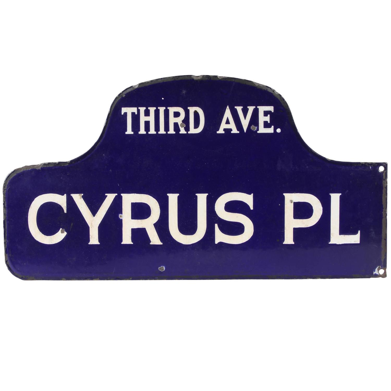 1920s 1930s New York Humpback Enamel Street Sign At 1stdibs