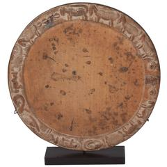 African Wood Charger or Platter on Custom Stand