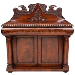 Antique Mahogany American Eagle Irish Miniature Chiffonier