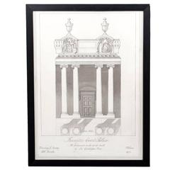 Framed Architectural Drawing