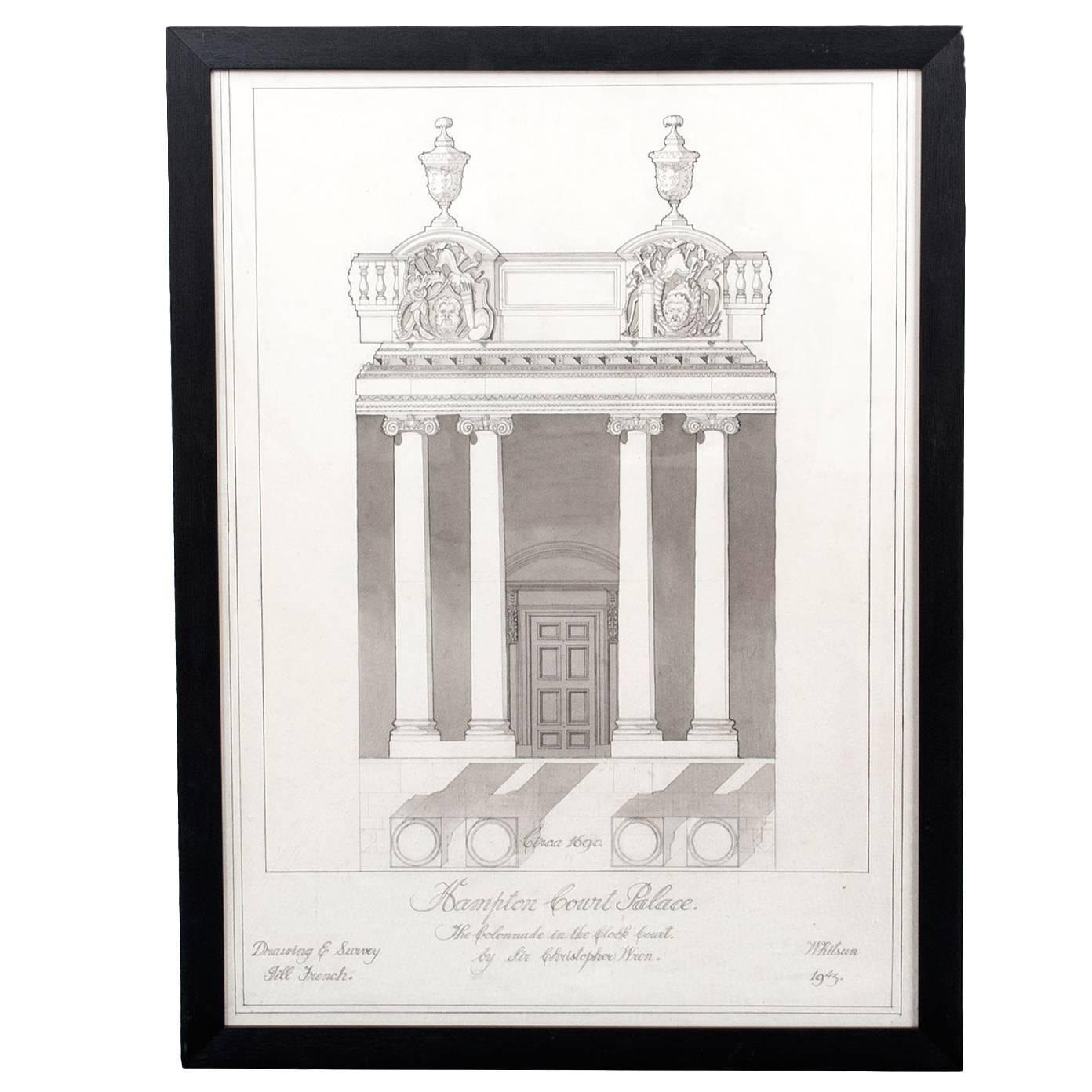 Architectural drawing for sale at 1stdibs for Cheap architectural drawings