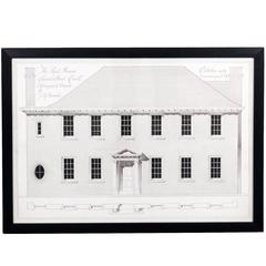 Framed Architectural Survey Drawing