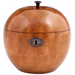 George III Fruitwood Apple Tea Caddy