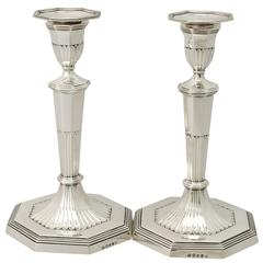 Sterling Silver Candlesticks, Antique George III