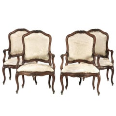 Four 18th Century Genoese Armchairs