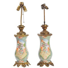 Pair of 19th Century Chinese Style Lamps