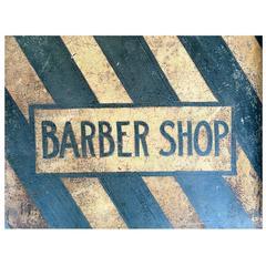 Metal Barber Shop Sign