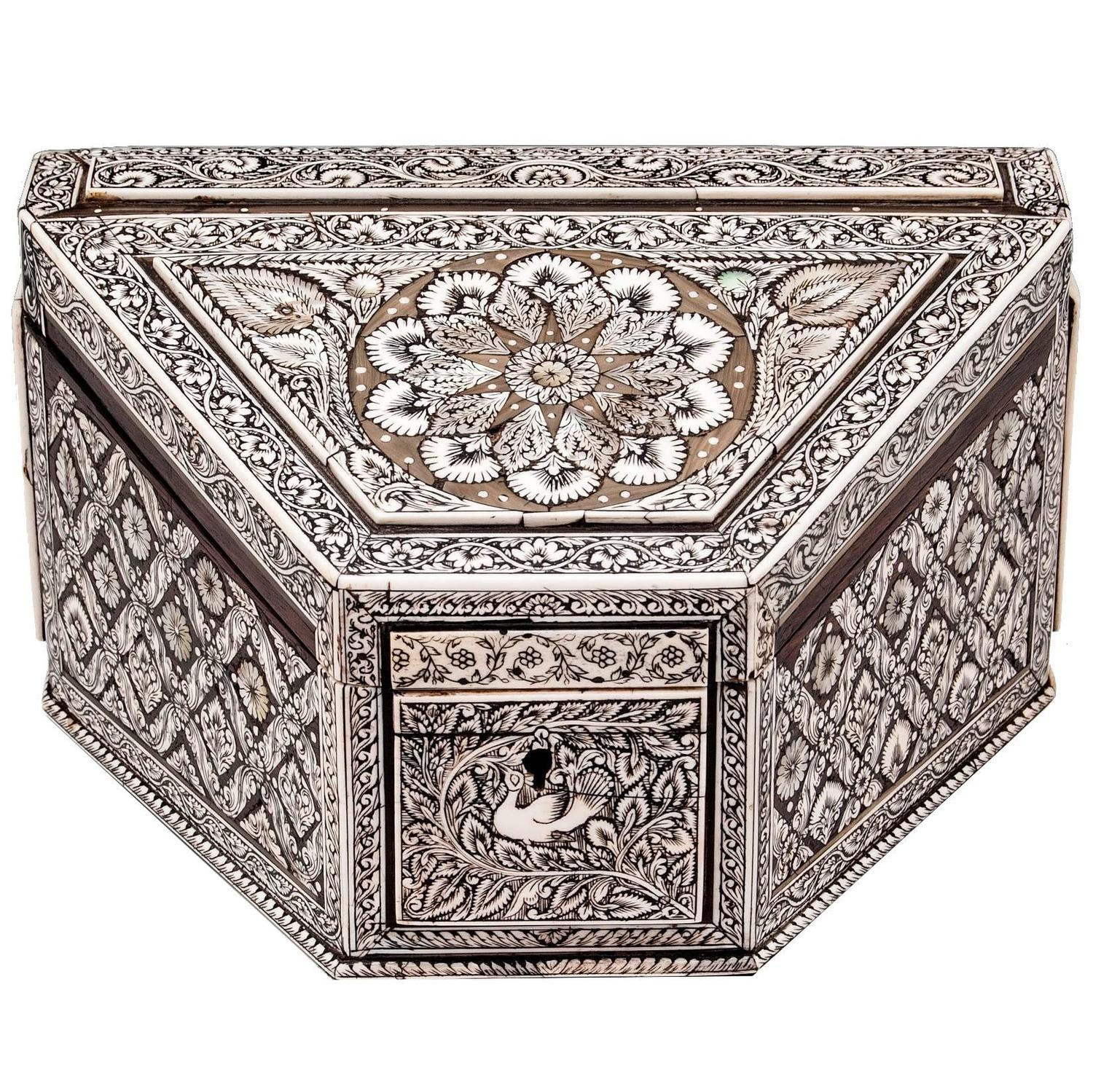 Anglo indian stationery box at stdibs