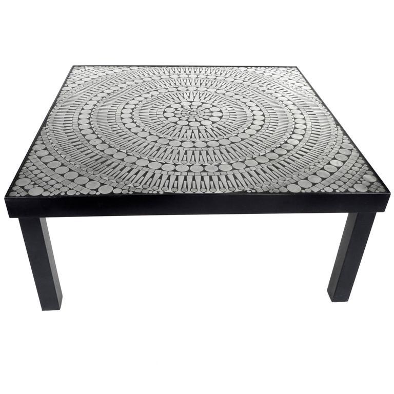 Mosaic Aluminum And Steel Coffee Table By Belgian Designer Raf Verjans 1