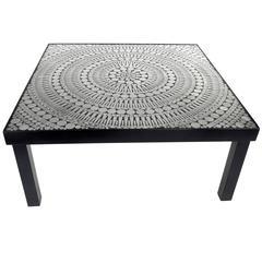 Belgian Designer Raf Verjans Mosaic Aluminum and Steel Coffee Table