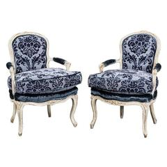 Armchairs Pair French Louise XV Period France