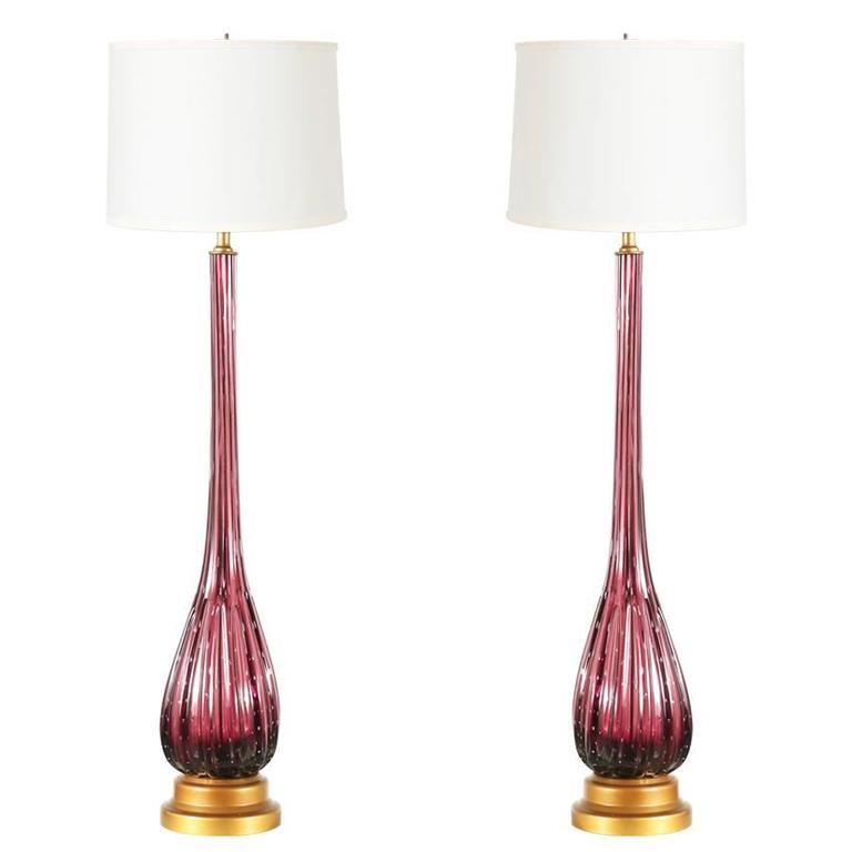 vintage italian murano glass table lamps for sale at 1stdibs. Black Bedroom Furniture Sets. Home Design Ideas
