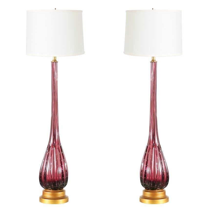 vintage italian murano glass table lamps at 1stdibs