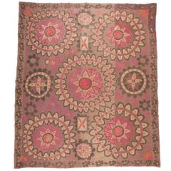 Early 20th Century Uzbek Pishkent All-Over Embroidered Suzani