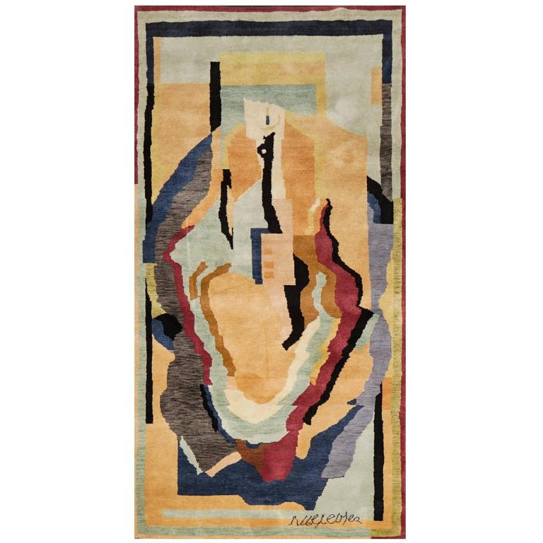 Fine Wool Rug After Albert Gleizes For