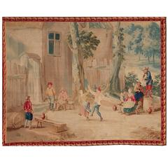 Brussels 18th Century Teniers Tapestry