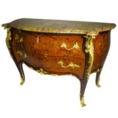 Louis XV Style Ormolu-Mounted Bombe Commode Attributed to François Linke