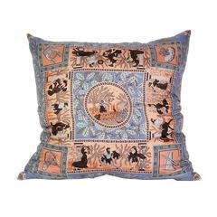 Hermès 'Musique Des Dieux' Silk Scarf Pillow with Linen Backing