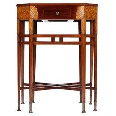 Remarkable Art Nouveau Table from Prague