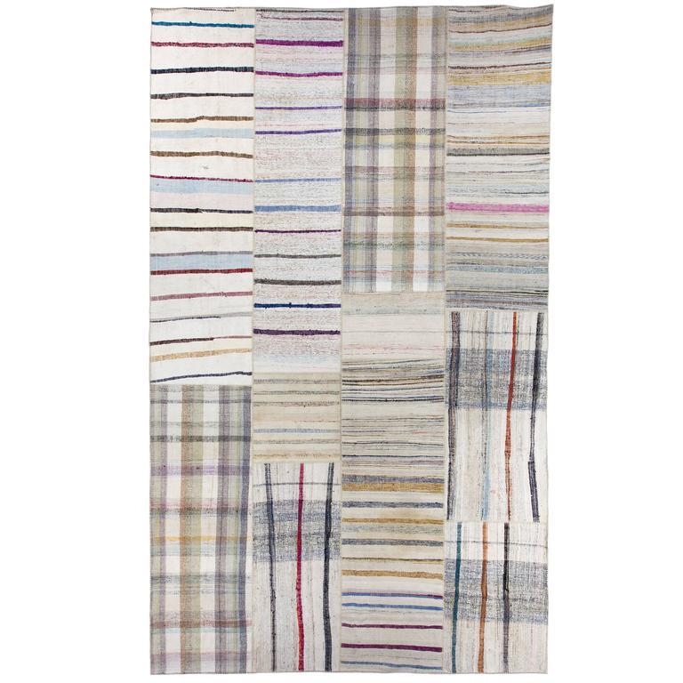 Large Cotton Kilim Flat Woven Rag Rug For Sale At 1stdibs
