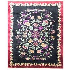 "Antique Art Deco Chinese Carpet, 7'10"" x 9'8"""