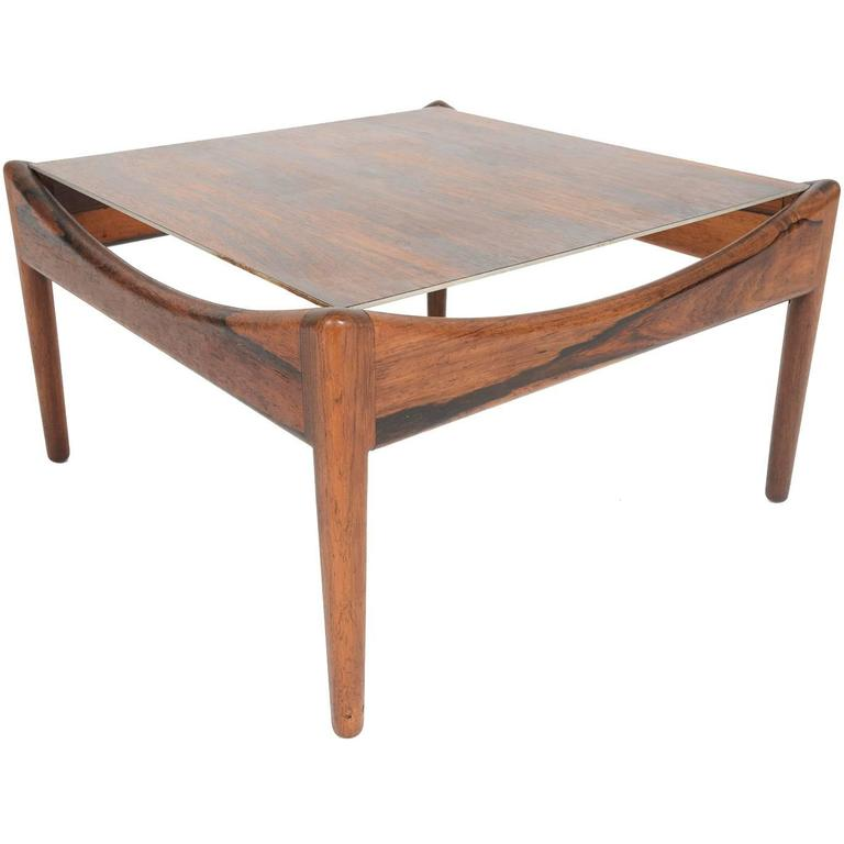 Kristian Vedel Rosewood Modus Side Table For Sale