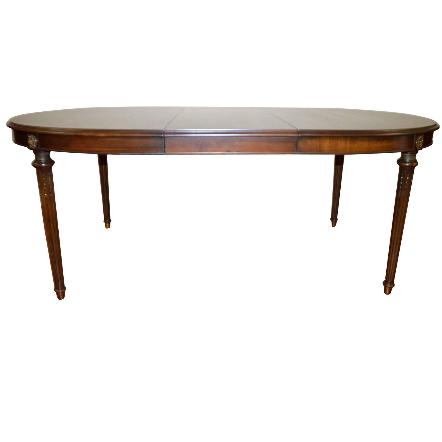 Louis xvi style walnut dining table at 1stdibs for Walnut dining table