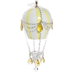 Murano, Glass Single Light Fixture in the Form of Hot Air Balloon