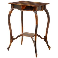 Rare 19th Century Cordia Wood Occasional Table From Barbados