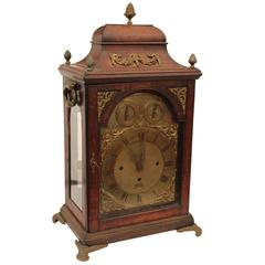 Fruitwood Chippendale Rare Musical Bracket Clock