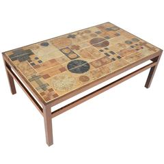 Tue Poulsen Wenge and Ceramic Tile Coffee Table